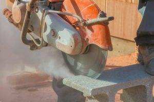 Brick Cutting Saw Silica