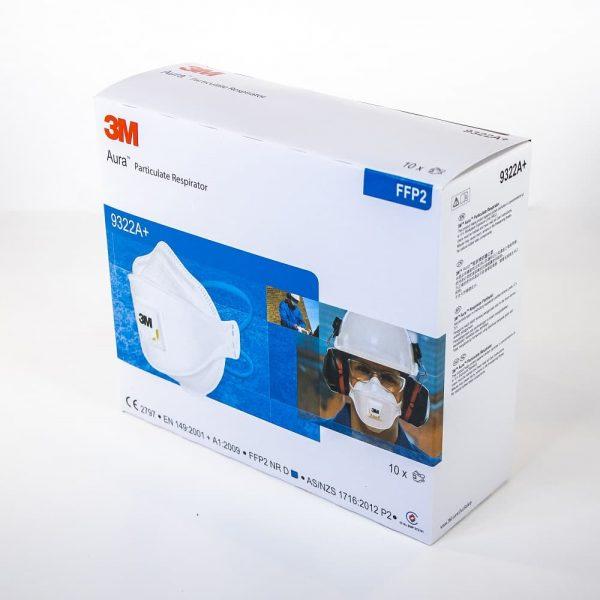 3M 9322A disposable respirator box