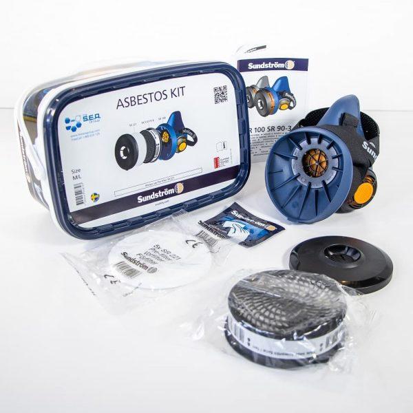 Sundstrom half face asbestos respirator kit contents